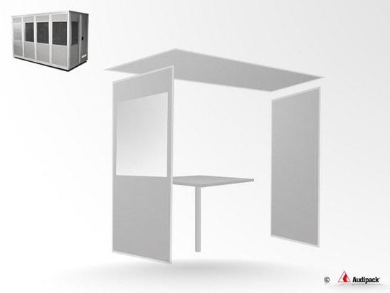 Audipack-Erweiterungsset-Doplmetscherkabine
