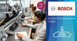 Bosch Dicentis Dolmetschpult IDESK im Eisnatz