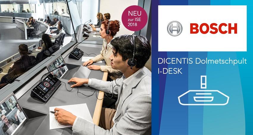 Bosch Dicentis Dolmetschpult IDESK in der Kabine