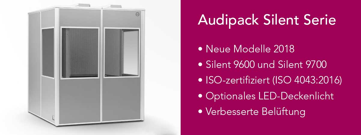 Neue Modelle Audipack Silent Serie Dolmetscherkabine